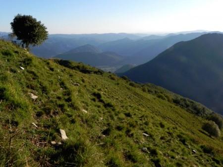 Čadrski vrh,pogled v Tolmin
